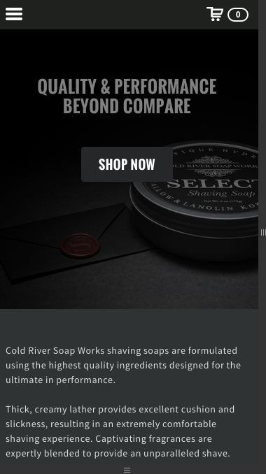 Cold-River-Responsive-Homepage-on-Mobile