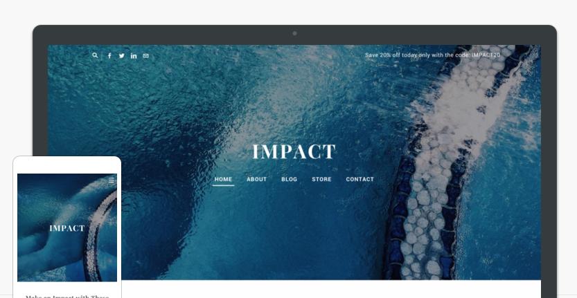Impace-website-theme-on-desktop-and-phone