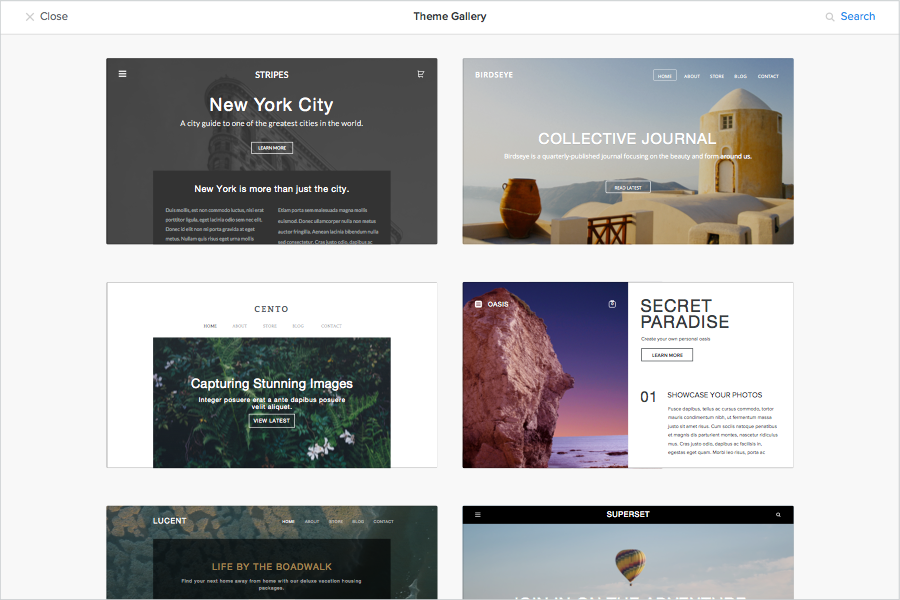 New-Weebly-Themes-Examples