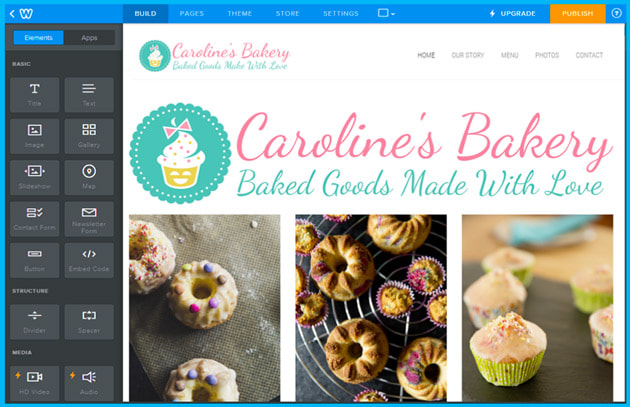Carolines-Bakery-Frontpage-with-Logo-Example